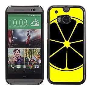 Stuss Case / Funda Carcasa protectora - Lemon Art Yellow Black Nuclear Symbol Fruit - HTC One M8