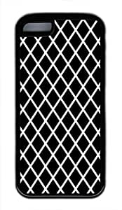 Black And White Prism Cute Soft Case Cover for iPhone 5C TPU Black