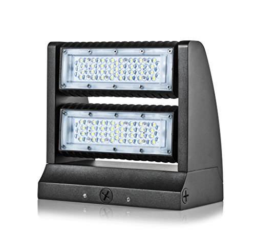 Hyperikon LED Wall Pack Rotatable, 60W (250W HPS Equivalent), Outdoor Area Lighting Fixture, 5000K, IP65