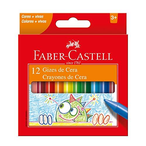 Giz de Cera 2 Cores, Faber-Castell, Multicor, Pacote de 1