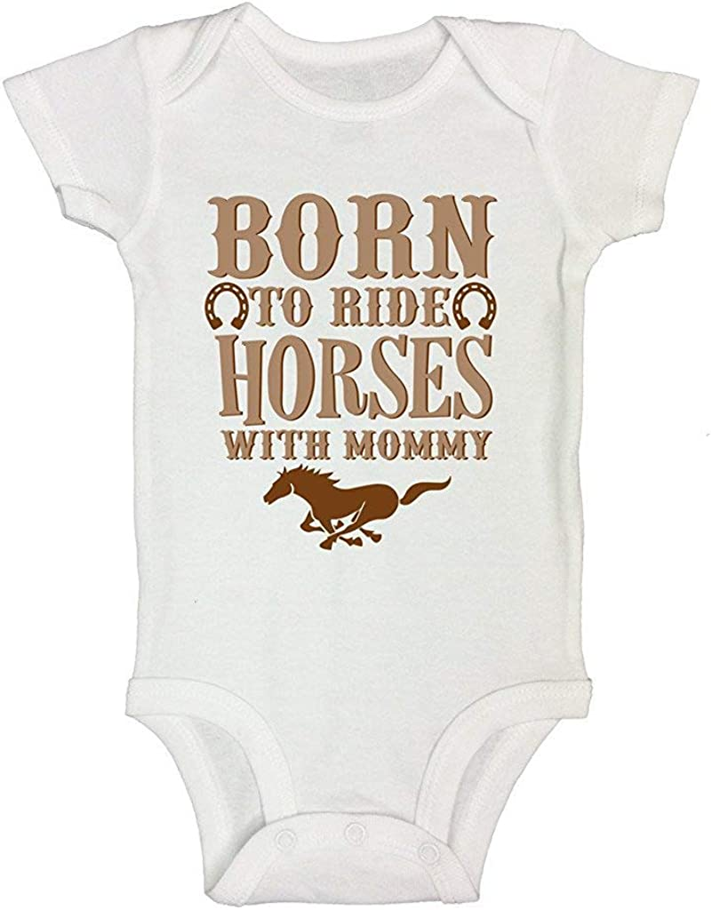 Royaltee Animal Boutique Shirts Cute Western Rompers Born to Ride Horses