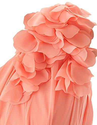 Mousseline De Soie Fait À La Main Cdress Courte Appliqué Robes De Demoiselle D'honneur Robes De Fête De Bal De Mariage Rougir