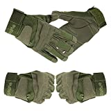 Mingus Full-finger Gloves Fitness Hunting Riding Game Cycling Climbing Outdoor Sports Gloves - Army Green M