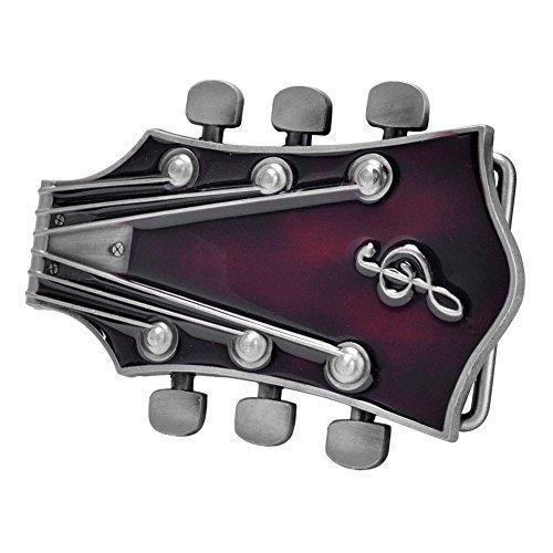 Buckle Rage Adult Unisex Guitar Music Headstock Musician Base Belt Buckle Red