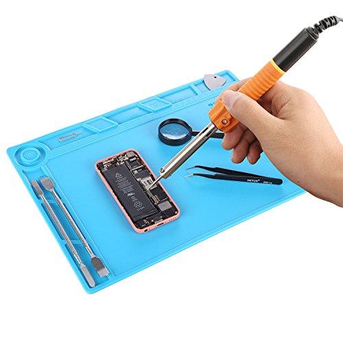 Iagree 13 7 x 9 8 inch Magnetic Screw Repair Mat Heat