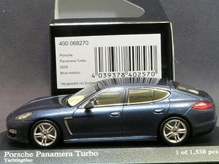 Amazon.com: [MINICHAMPS / Minichamps] 1/43 Porsche Panamera Turbo 2009 Blue Metallic: Toys & Games