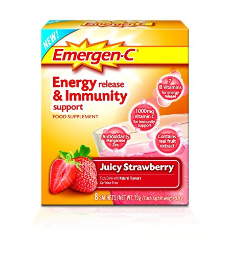 EMERGEN-C Juicy Strawberry Energy Release & Immunity Support Food Supplement 8 Sachets - by Emergen-C