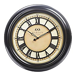 Chaney Instruments Co 75176 Wall Clock with Raised Dial, 18, Black