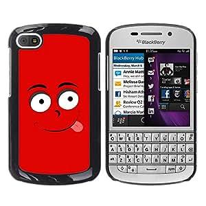 MOBMART Carcasa Funda Case Cover Armor Shell PARA BlackBerry Q10 - Tempting Mr. Red