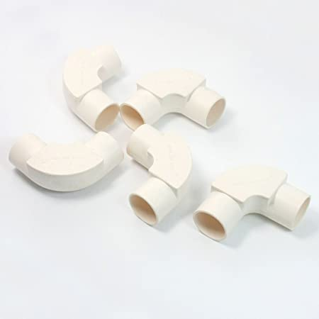 5 Pcs 25mm Inner Dia  90 Degree Elbow White PVC Pipe