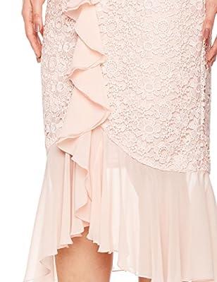 Social Graces Women's Cold-Shoulder Floral Guipure Lace Draped Ruffle Midi Dress