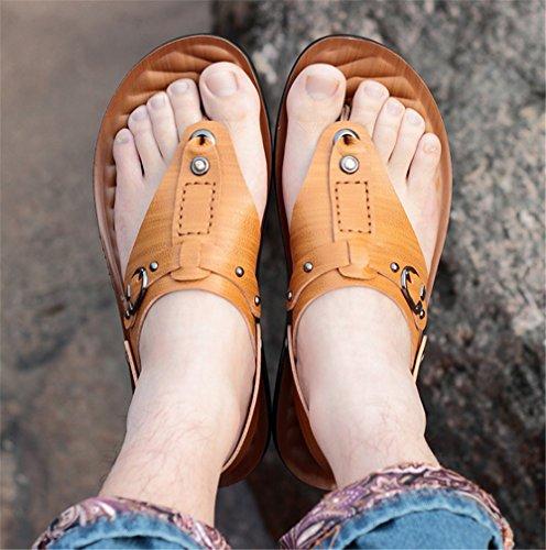 Da Uomo Scarpe 1 Giallo Marroni Traspiranti 3 spiaggia Casual Per Da Wagsiyi Giallo All'aperto Sandali 39 EU Spiaggia Da Dimensione L'estate da Colore Sandali pantofole Uomo BPZpxqv
