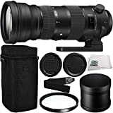 Sigma 150-600mm f/5-6.3 DG OS HSM Sports Lens for Nikon F with 105mm Multi-Coated UV Filter & Microfiber Cleaning Cloth