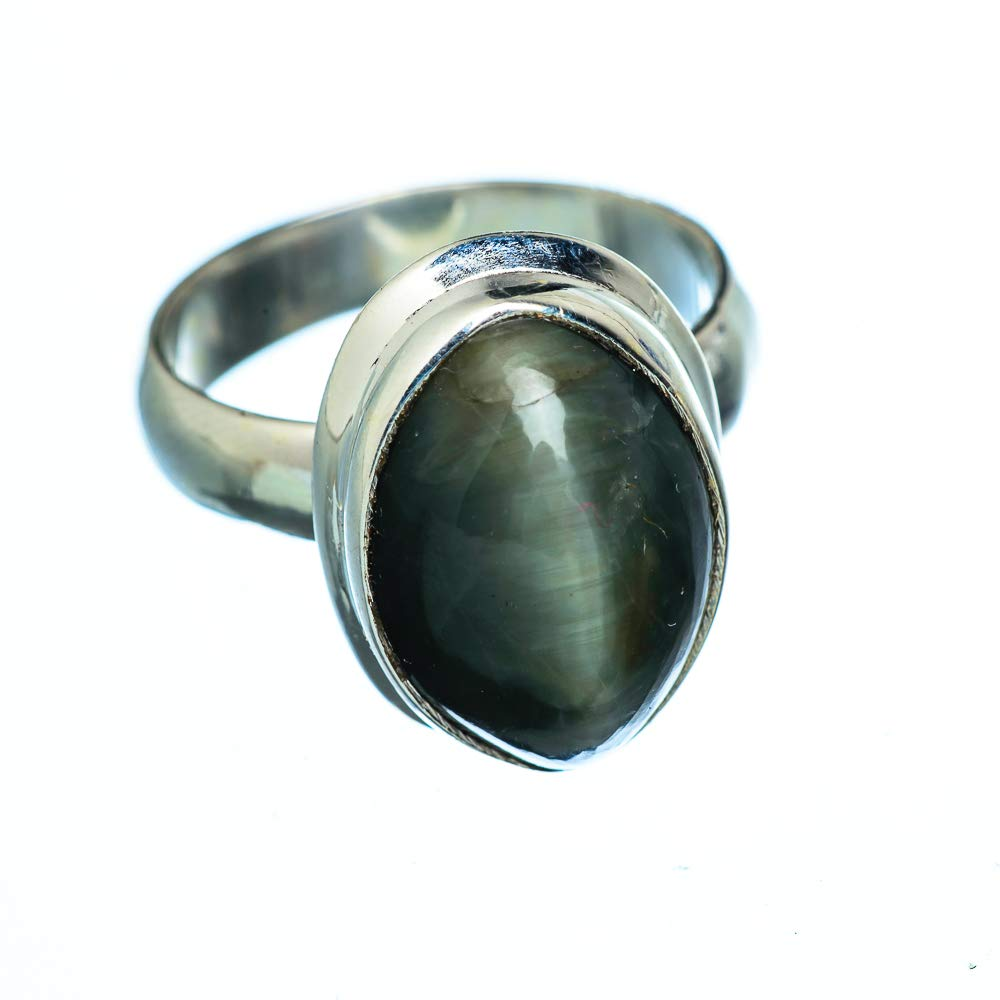 Ana Silver Co Cats Eye 925 Sterling Silver Ring Size 6 Bohemian Handmade Jewelry Vintage RING950403