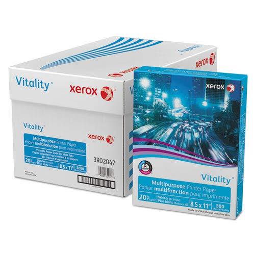 Vitality Multipurpose Printer Paper, 8 1/2 X 11, White, 5,000 Sheets/Ct