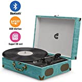 Record Player Classic Suitcase Record Vinyl Turntable Player LP,Bluetooth,USB/SD Play,Built-in Speakers,Unique Design Portable Suitcase Turntable Player