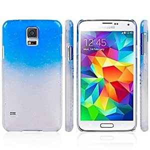 PEACH- ships in 48 hours Gradual Change Droplets PC Material Shell Back Cover Suitable for Samsung Galaxy S5 I9600 , Blue