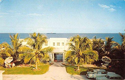 Delray Beach Florida Dream House Apartments Vintage Postcard - Beach Delray Stores