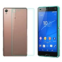 Lowpricenice For Sony Xperia Z3 Compact Front+Back Tempered Glass Film Screen Protector
