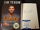 Tim Tebow Signed Book Shaken