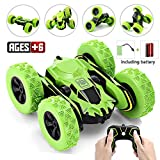 Ansee Electric RC Stunt Cars for Kids Off Road Radio Controlled Cars 2.4GHz 4WD 6CH High Speed Rechargeable 360 Degree Rotating RC Vehicles (Green)