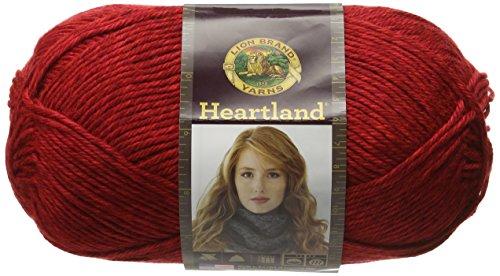 - Lion Brand Yarn 136-113 Heartland Yarn, Redwood