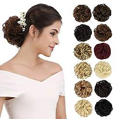 REECHO Women's Thick 2PCS Hair Scrunchie...