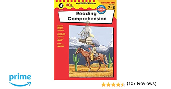 Reading Comprehension, Grades 7 - 8 (The 100+ SeriesTM ...