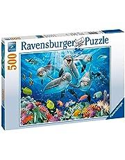 Ravensburger 147106 Puzzel Dolfijnen In Het Koraalrif - Legpuzzel - 500 Stukjes