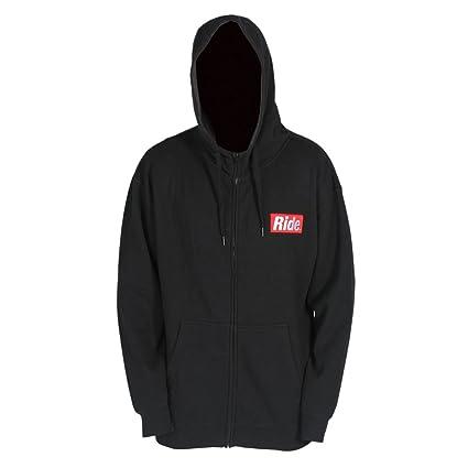 Ride Snowboard ropa barra con cremallera Sudadera con capucha, hombre, negro