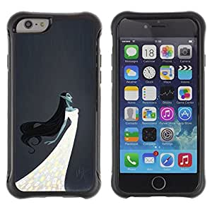 "Pulsar iFace Series Tpu silicona Carcasa Funda Case para Apple iPhone 6+ Plus(5.5 inches) , Elfa Bruja Hada Mujer blanca vestido de noche"""