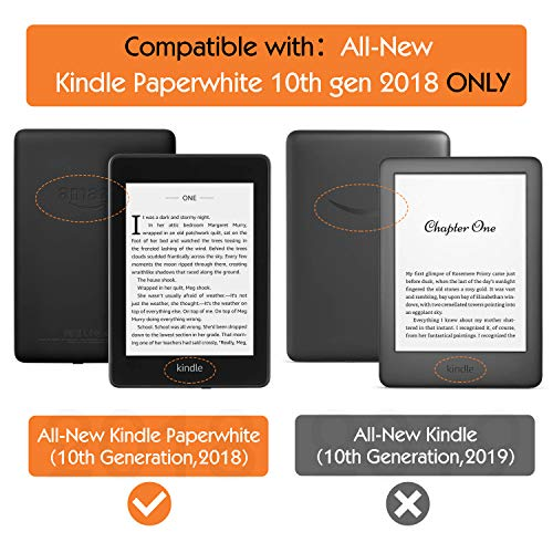 MoKo Case Replacement with Kindle Paperwhite (10th Generation, 2018 Releases), Standing Origami Slim Shell Cover with Auto Wake/Sleep for Amazon Kindle Paperwhite 2018 E-Reader - Black
