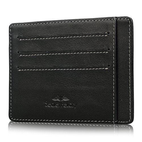 Secret Felicity Mens Money Clip Card holder RFID SAFE Leather Wallet SFR2