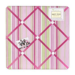 Pink and green jungle friends stripe fabric for Magazine boards fabric