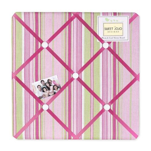 Pink and Green Jungle Friends Stripe Fabric Memory/Memo Phot