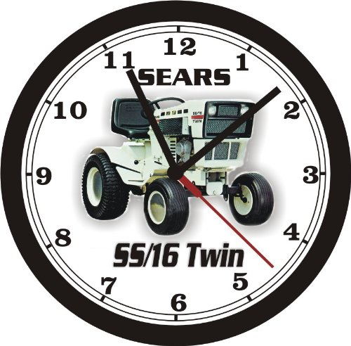SEARS SS.16 TWIN ANNIV. RIDER MOWER WALL CLOCK- FREE USA SHIPPING