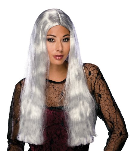 Grey Adult Witch Wig (Rubie's Costume 24-Inch Witch Wig, Grey, One Size)