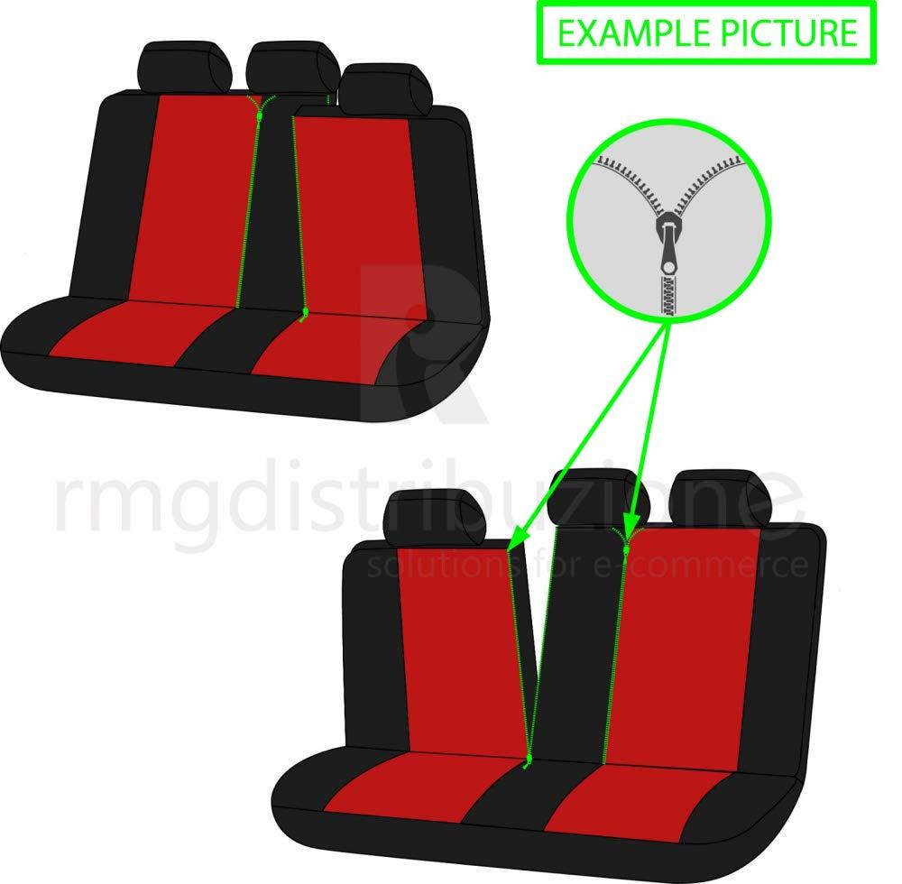 J Coprisedili Anteriori Astra Versione 2010-2015 compatibili con sedili con airbag con Fori per i poggiatesta e bracciolo Laterale