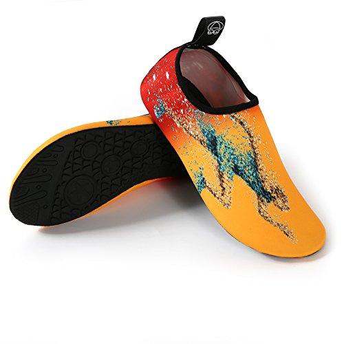 Yidarton Water Sports Shoes Barefoot Quick-Dry Aqua Shoes Yoga Swim Beach Surf Slip-On For Men Women Kids Running D6GRo4F