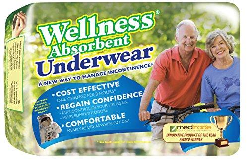 Ropa interior absorbente de bienestar grande 30