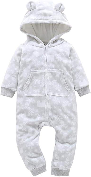 Bebé cálido Invierno algodón Monos, Recién Nacido Infantil niños ...