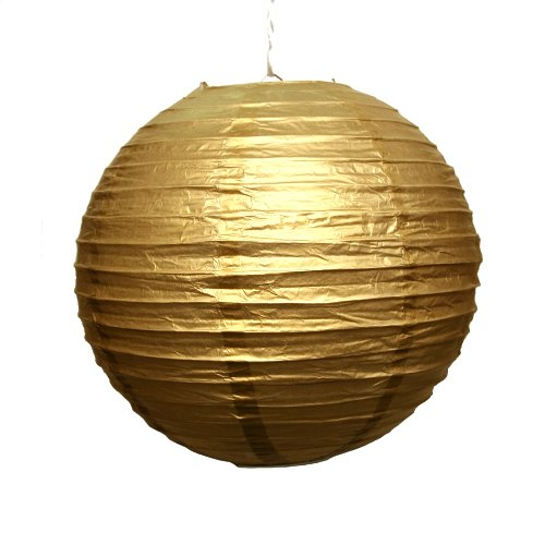 Gold Paper Lanterns (Fun Express - Gold Lanterns, 12