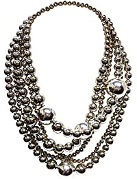 Kenneth Jay Lane Kenneth Jay Lane Woman Gold-tone Beaded Necklace Silver Size