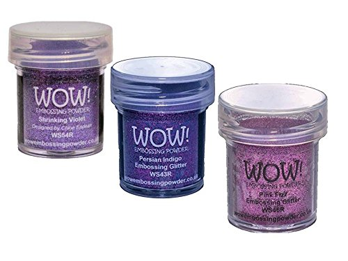 Purple Passion Bundle: Shrinking Violet, Pink Fizz, and Persian Indigo (Embossing Glitter) by Wow! Embossing Powder