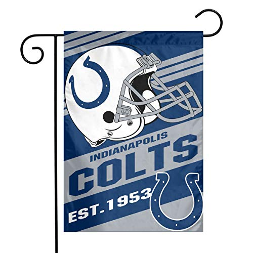 (TeamService Indianapolis Colts Weatherproof, Wrinkle Resistant, Mildew Resistant Garden Flags, Outdoor Garden Flags and The Best Patio Decor 12x18 inches)