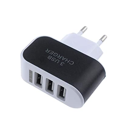 Vimoli USB 5V/3.1A Adaptador de EU Enchufe 3 Puertos Cargador Viaje en Casa de Pared Adaptador Compatible con iPad iPhone Samsung Galaxy Nexus Nokia ...