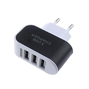 Vimoli USB 5V/3.1A Adaptador de EU Enchufe 3 Puertos Cargador Viaje en Casa de Pared Adaptador Compatible con iPad iPhone Samsung Galaxy Nexus Nokia ...
