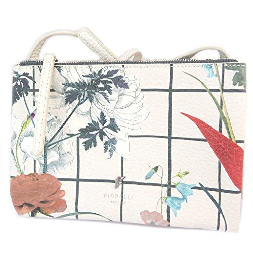 Bolso de hombro 'Fiorelli'beige multicolor (2 compartimentos)- 22x15.5x3 cm.