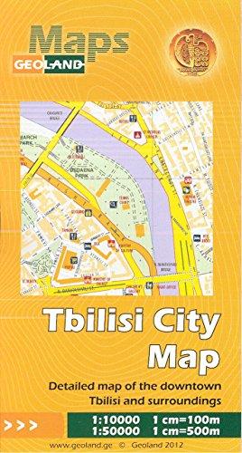 Tbilisi (Georgia) 1:10,000 Street Map & Metropolitan Area 1:50,000