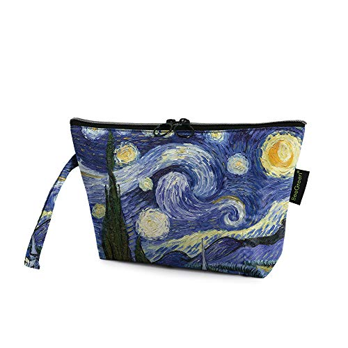 Roomy Cosmetic Bag for Women BeeGreen Cute Fashion Travel Pouch with Zipper Makeup Bag Travel Toiletry Pouch Girls Gifts…